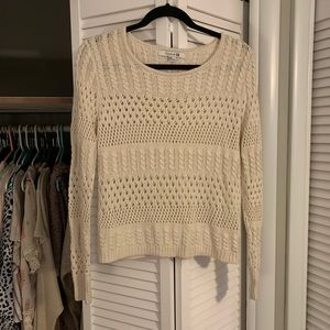 Off white knit sweater, from Forever 21